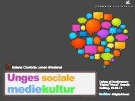 mediekultur - Foredrag, Konferencer og Kurser