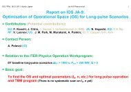 Optimisation of Operational Space (OS) for Long-pulse Scenarios