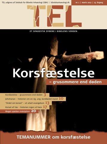Læs spændende TEL temanummer om Korsfæstelsen her