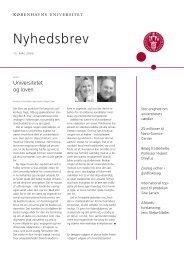 Nyhedsbrev KU 03229-99 - Københavns Universitet