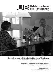 Interview med biblioteksdirektør Jens Thorhauge