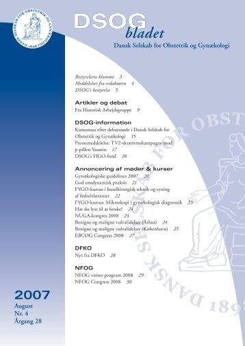 Nr. 4 - 22. august 2007 - DSOG