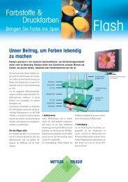 Farbstoffe & Druckfarben - METTLER TOLEDO