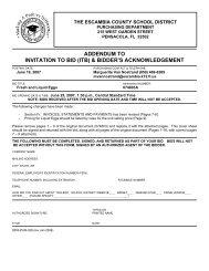 addendum to invitation to bid (itb) & bidder's acknowledgement