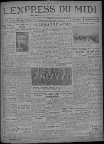 MERCREDI 6 NOVEMBRE 1929 Les Idées et - Bibliothèque de ...