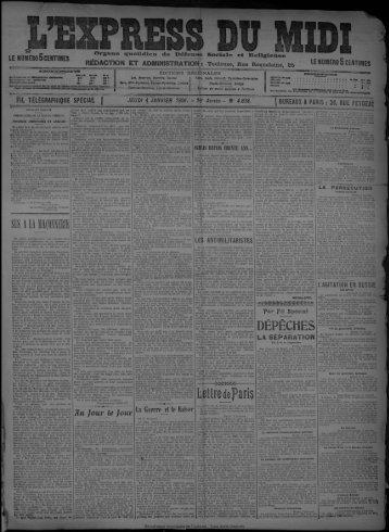 janvier 1906. - Bibliothèque de Toulouse