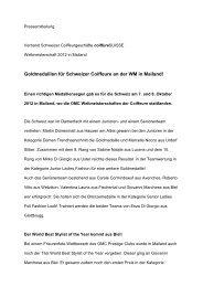 Goldmedaillen für Schweizer Coiffeure an der ... - Coiffure SUISSE