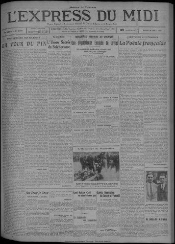 30 août 1927 - Bibliothèque de Toulouse