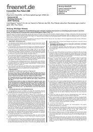 freenetDSL Plus Paket AGB Service-Anschrift ... - ftp.freenet.de.