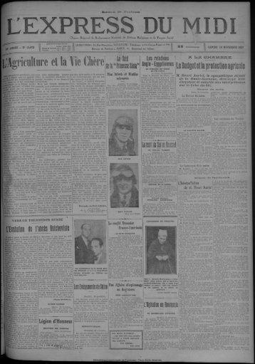 19 novembre 1927 - Bibliothèque de Toulouse