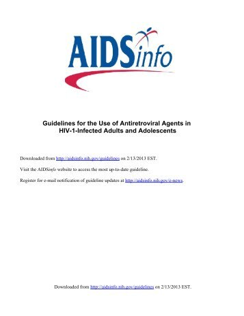 Guidelines for the Use of Antiretroviral Agents in HIV-1 ... - CD8 T cells