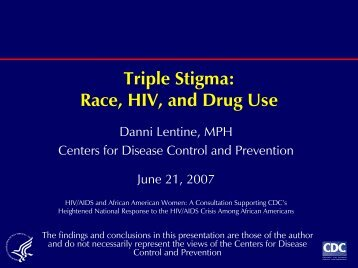 Triple Stigma: Race, HIV and Drug Use (PDF)