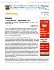 Cloudy With a Chance of Chaos - Environmental Energy ...