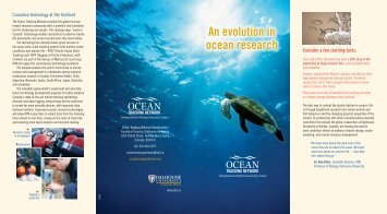An evolution in ocean research - Ocean Tracking Network