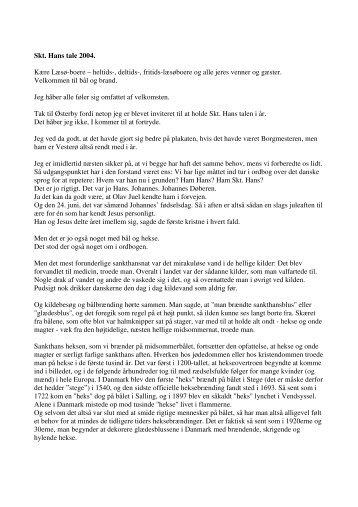 Skt. Hans tale 2004. Kære Læsø-boere – heltids-, deltids ... - leiflines