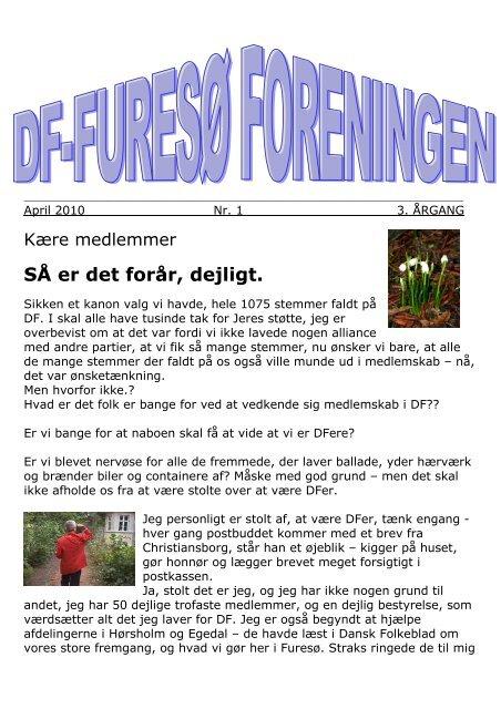 SÅ er det forår, dejligt. - Dansk Folkeparti