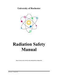 Radiation Safety Manual - Extranet - University of Rochester