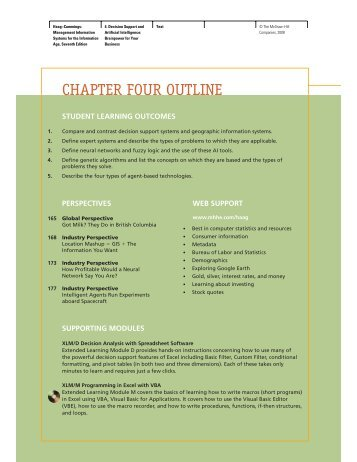 CHAPTER FOUR OUTLINE - McGraw-Hill Learning Solutions