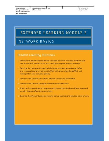 EXTENDED LEARNING MODULE E - McGraw-Hill Learning Solutions