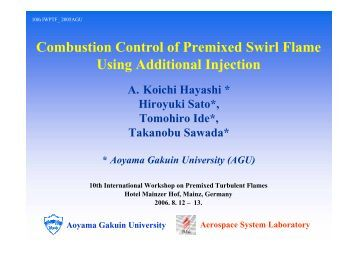 Combustion Control of Premixed Swirl Flame Using Additional ...
