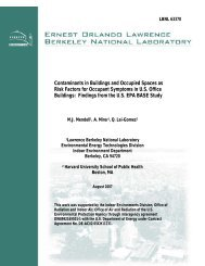 Contaminants in Buildings and Occupied Spaces as Risk Factors for ...