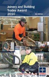 Joinery And Building Trades Award 2010 - cfmeu