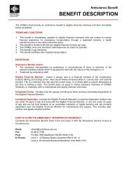 Ambulance Benefit Claim Form - cfmeu