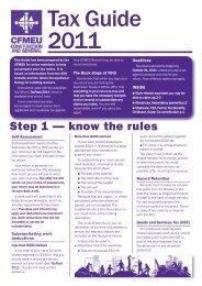 Tax Guide 2011 - cfmeu