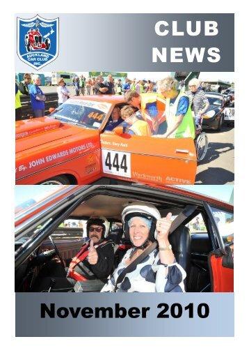 CLUB NEWS November 2010 - Auckland Car Club