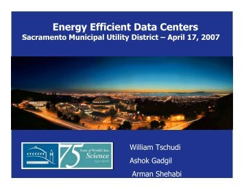 Energy Efficient Data Centers - Environmental Energy Technologies ...