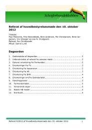 Referat af HB møde den 10. oktober 2012
