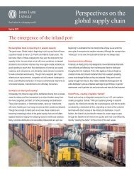Perspectives on the global supply chain - Jones Lang LaSalle