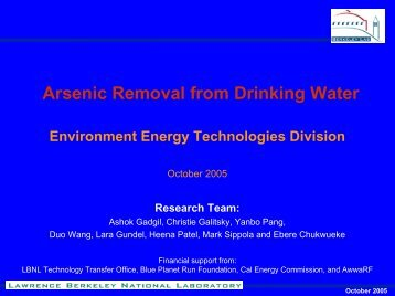 download presentation - Environmental Energy Technologies Division