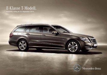 E-Klasse T-Modell. - Preislisten