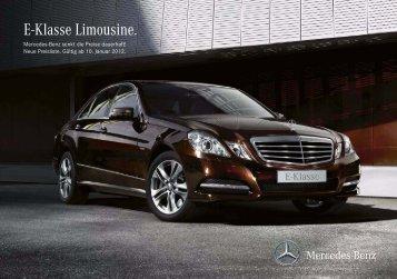 E-Klasse Limousine. - Preislisten