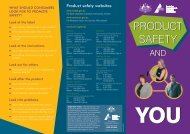 Product safety and you_brochure_Mar2005.indd - Baby & Kids Market