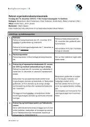 Referat organisationsbestyrelsesmøde - Boligforeningen 3B