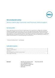 Service næste dag i hjemmet med Premium-telefonsupport - Dell
