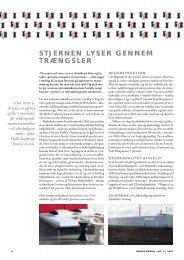 STJERNEN LYSER GENNEM TRÆNGSLER - Danish furniture