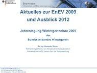 Aktuelles zur Energieeinspar-Verordnung 2009 - Bundesverband ...