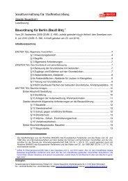 Bauordnung für Berlin - Bundesverband Wintergarten eV