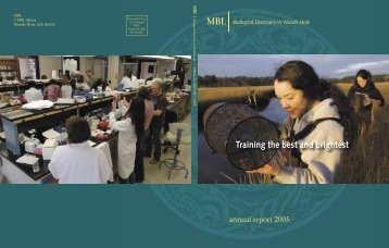 Annual Report Cover - Marine Biological Laboratory