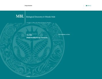 The MBL Brand Identity Design Standards - Marine Biological ...