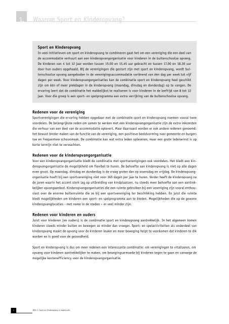 werkboek 'Sport en kinderopvang' - NISB