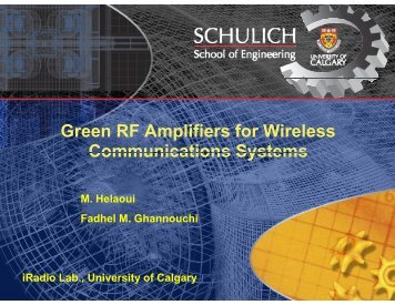 Green RF Amplifiers for Wireless Communications Systems - Acamp