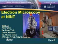 Electron Microscopy at NINT - Acamp