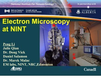 Electron Microscopy at NINT - Acamp
