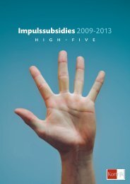 Impulssubsidies 2009-2013