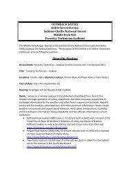 OUTREACH NOTICE USDA Forest Service Salmon-Challis National ...