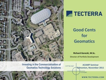 Good Cents for Geomatics - Alberta Centre for Advanced MNT ...